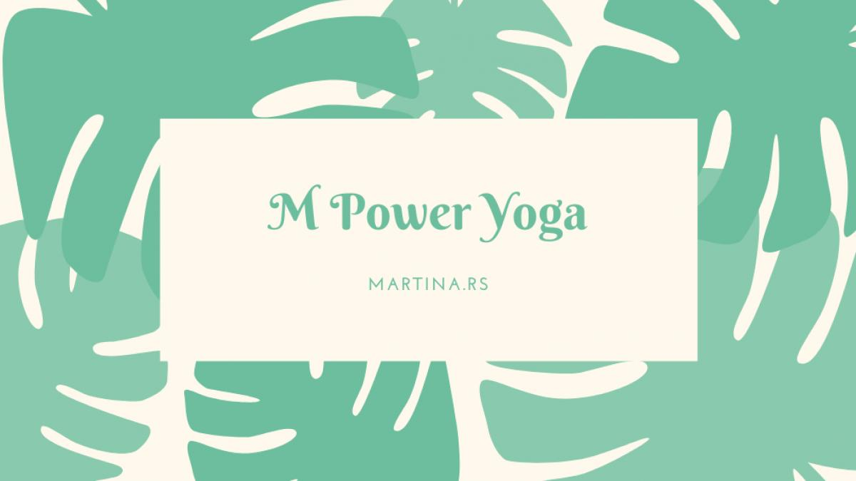 Green tropical leaves yoga business card